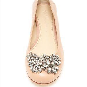 Vera Wang Jeweled Lisa Ballet Flats